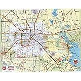Amazon.com : Greater Houston/Harris County Laminated Wall Map w/Zip on