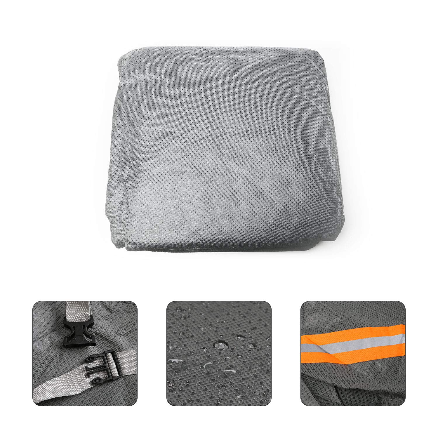 Odthelda Jeep Car Cover 5 Layers for Jeep Wrangler Waterproof Windproof Dustproof All Weather Prevention Car Cover