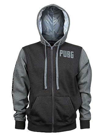 779ec98f474 Amazon.com  JINX PUBG Men s Level 3 Zip-Up Premium Hoodie  Clothing