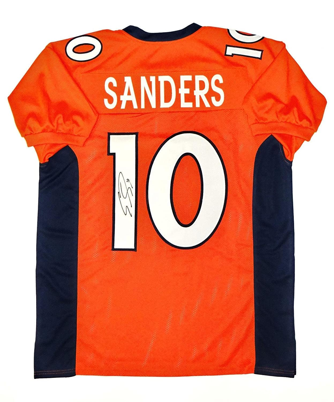 Emmanuel Sanders Signed Jersey - Orange Pro Style W Auth - JSA Certified - Autographed NFL Jerseys Sports Memorabilia