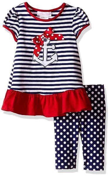 Amazon Bonnie Baby Baby Girls Anchor Appliqued Knit Playwear