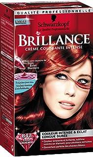 schwarzkopf brillance coloration permanente rouge cachemire 842 - Coloration Violine Soie