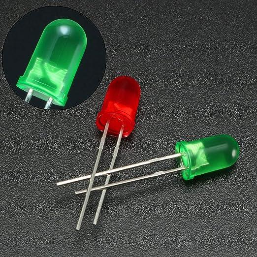 150stk 5mm Weiß LED Diode Licht Elektro Komponent Emittieren Licht 3-3,4V