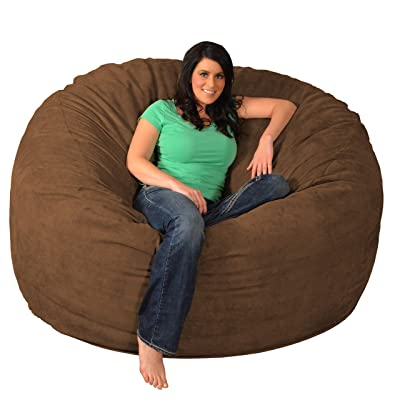 Theater Sacks Giant Memory Foam Bean Bag 6-Foot Chair Chocolate: Kitchen & Dining