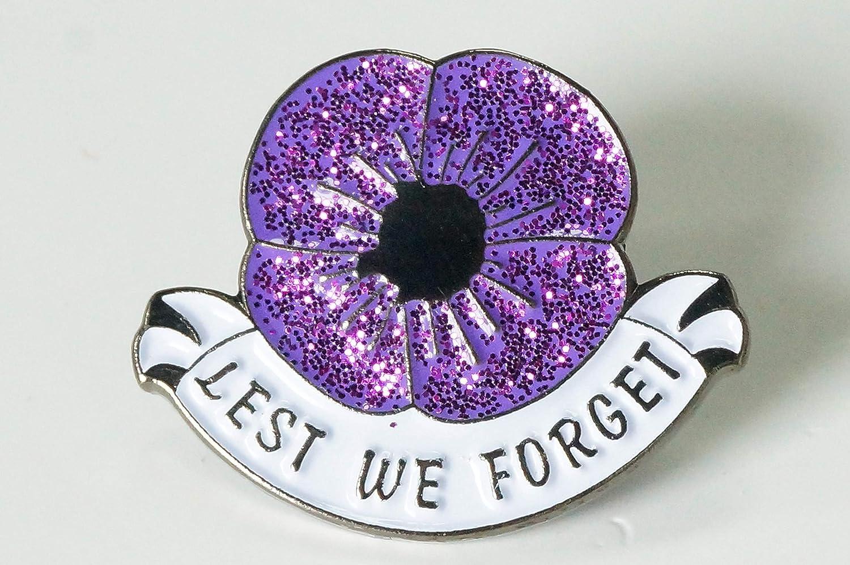 UK 2019 We Will Remembrance Day Veterans Purple Poppy Enamel Pin Badge Brooch