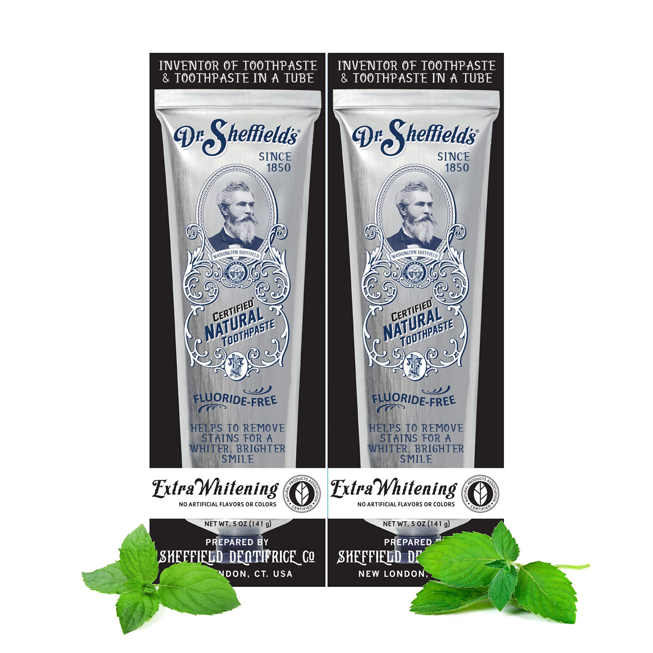 Dr. Sheffield's Premium Natural Extra Whitening Toothpaste, 5 OZ (Extra Whitening)