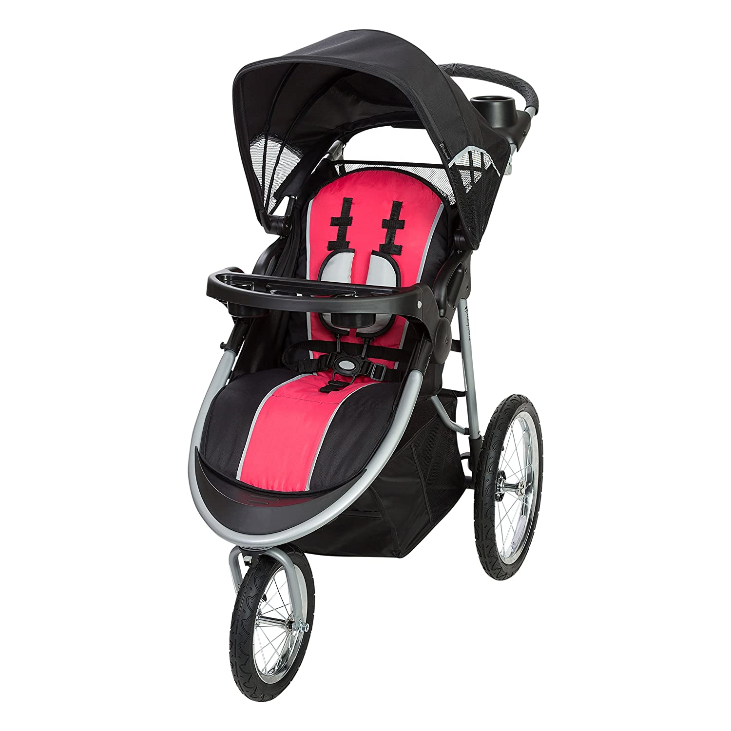 Baby Trend Pathway 35 Jogger Stroller, Optic Pink JG75B72A