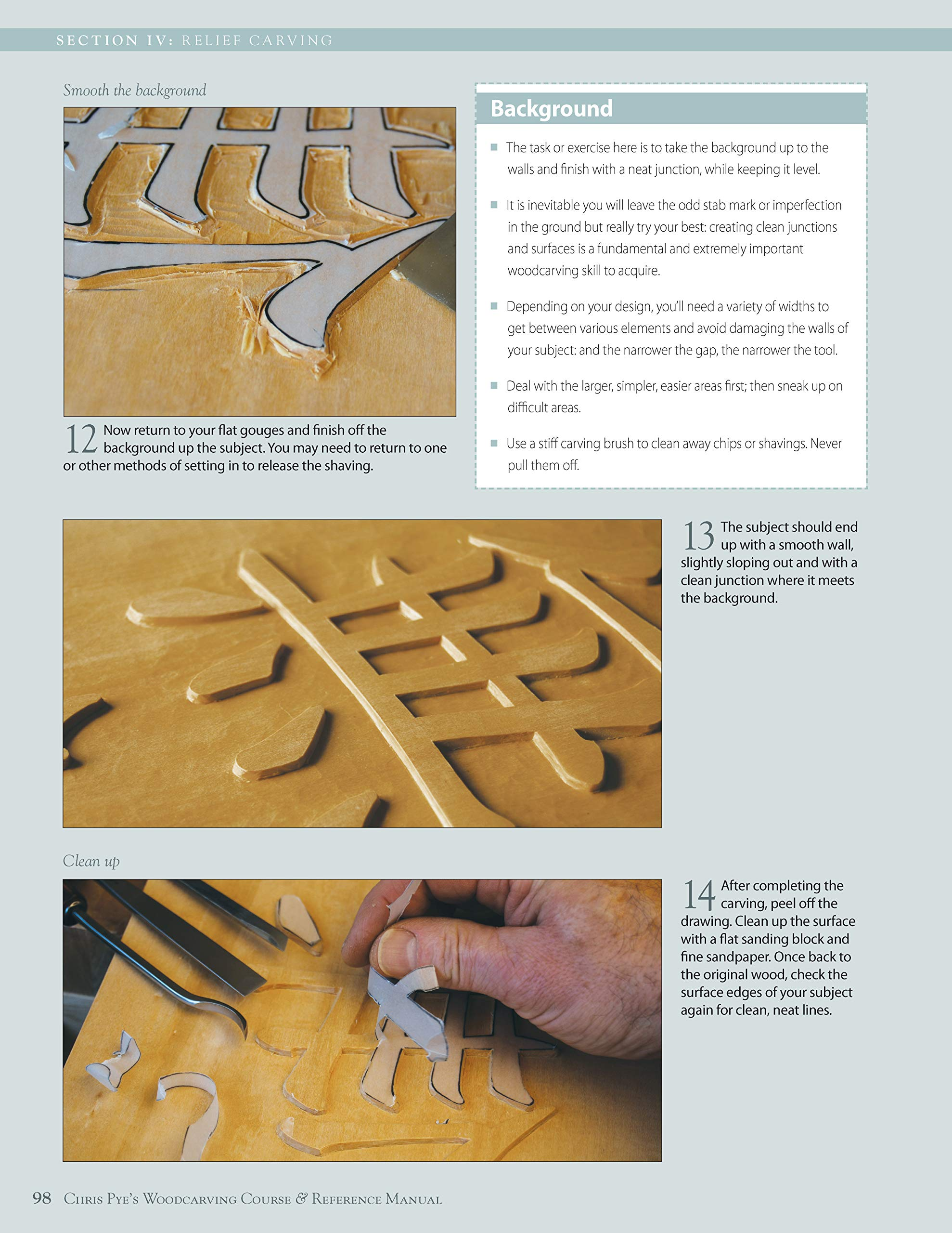 Chris pye s woodcarving course reference manual a beginner s