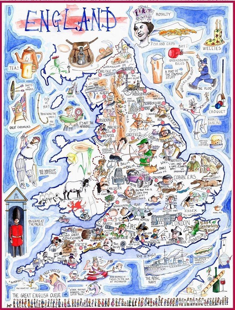 入園入学祝い Comical Map Map of Bulmer England – Tim Bulmer 1000ピースジグソーパズル – B07BYN41S8, アジアン リゾート スタイル:eafbc064 --- a0267596.xsph.ru