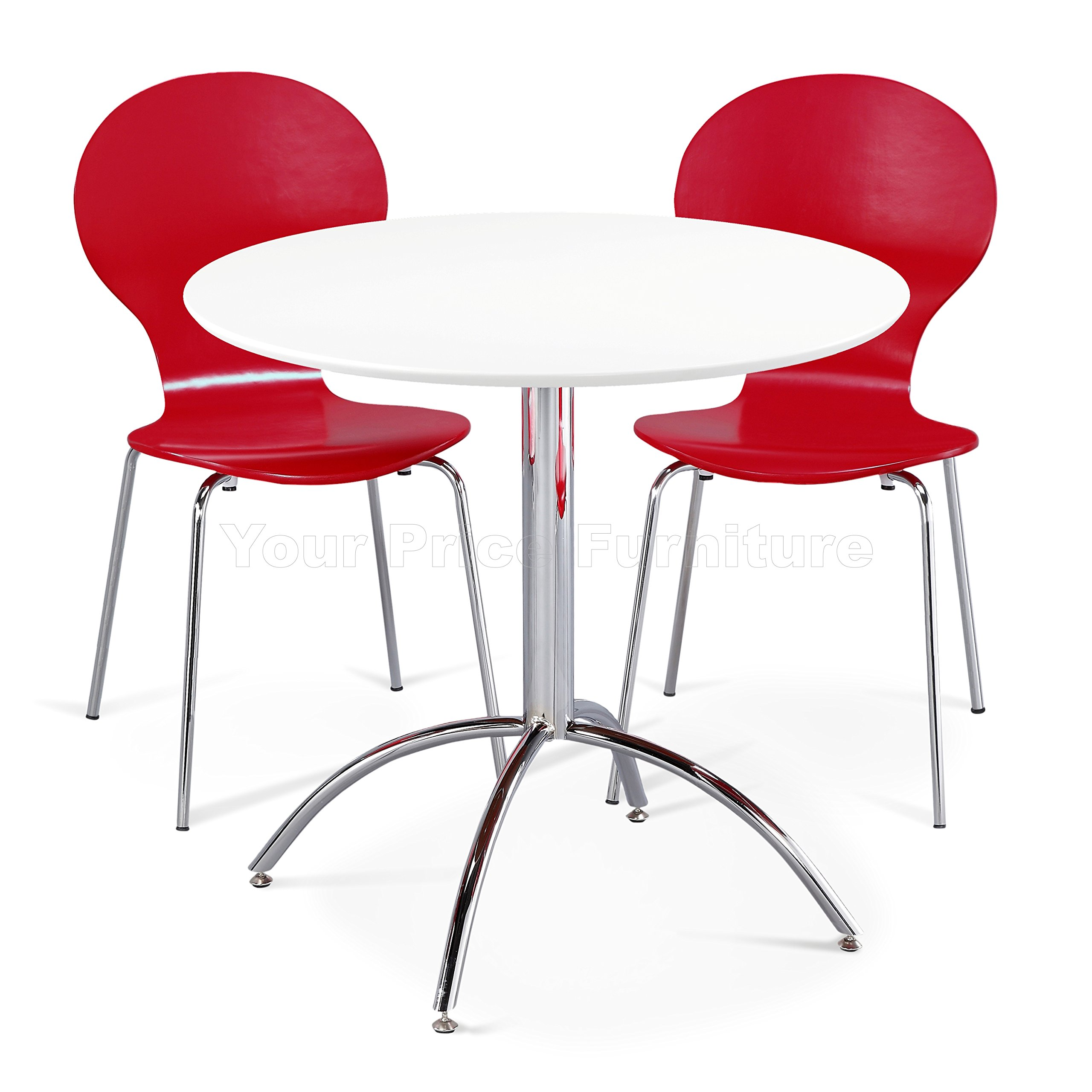 Your Price Furniture.com Small Round Kitchen Dining Table & 9 ...