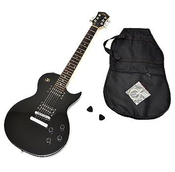 Ts-Ideen 5235 Guitarra eléctrica, construcción estándar, con funda, cuerdas de repuesto