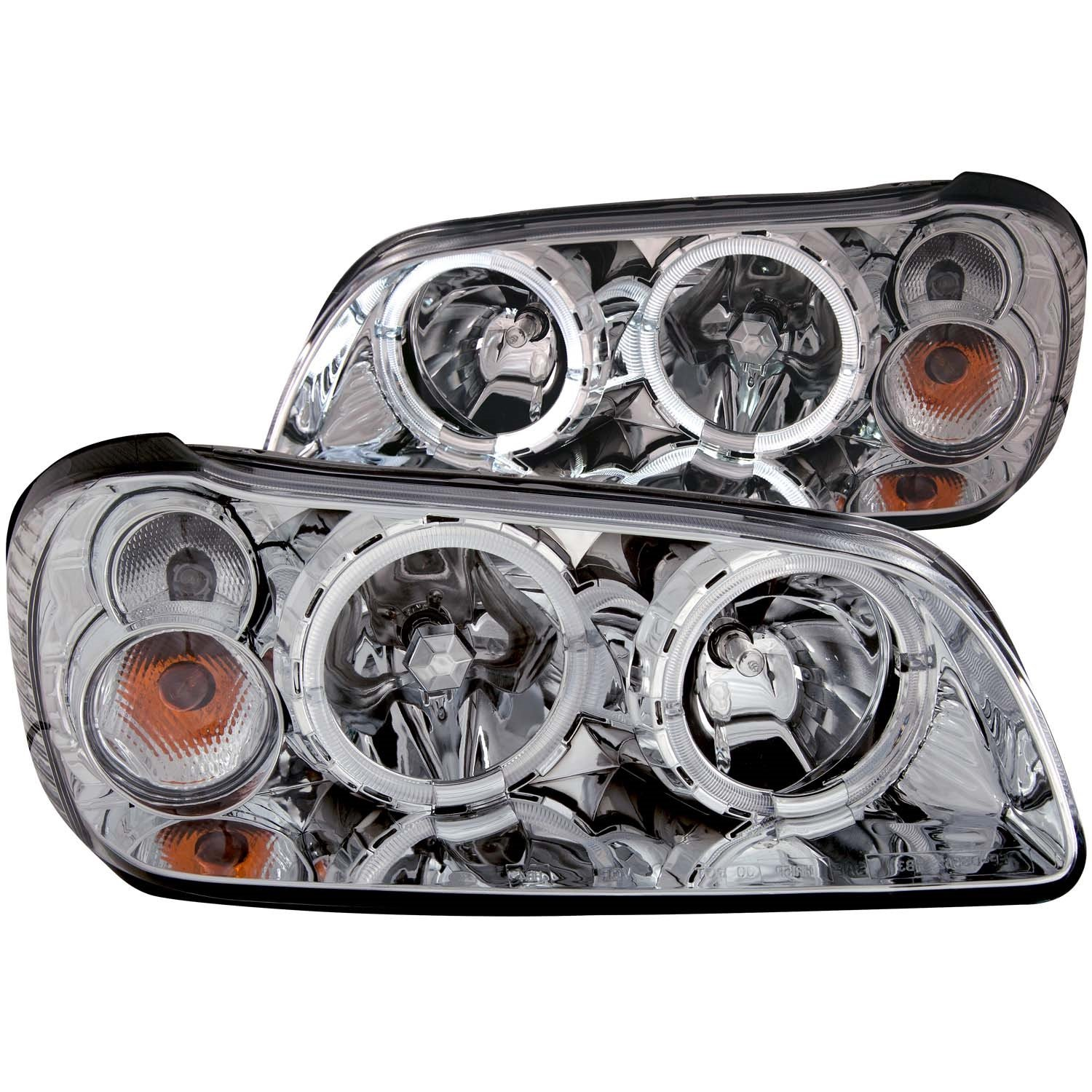 Sold in Pairs Anzo USA 121113 Nissan Maxima With Halo Black Headlight Assembly