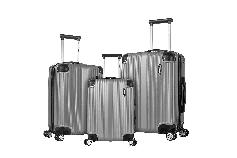 Rockland Hard Luggage, Spinner Luggage Luggage Set, Silver Fox Luggage-FOB CNNGB F236-SILVER