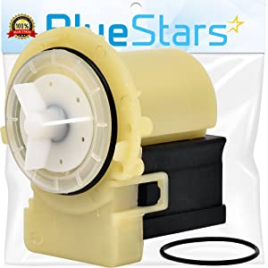 Ultra Durable 8181684 Washer Drain Pump Kit Replacement by Blue Stars - Exact Fit for Whirlpool Kenmore Kitchen Aid washers - Replaces 280187 8182819 8182821 AP3953640