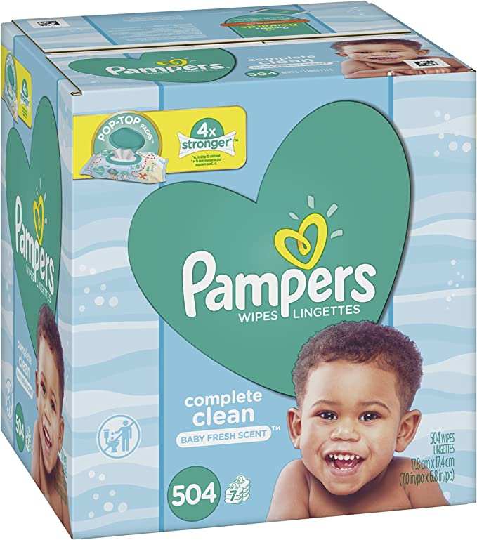 52 Wipes Pampers Fresh Clean Baby Wipes