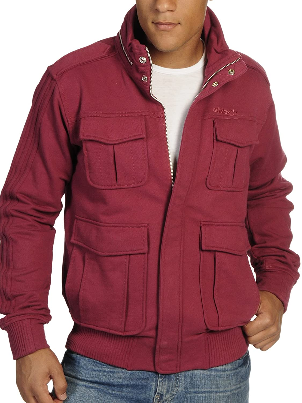Adidas Originals A.039 M Patch Jacke bordeaux, Größe:XL