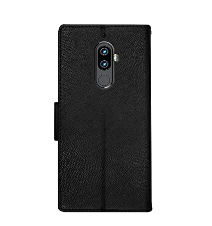new product 8cc7a bdc34 Hupshy® Lenovo K8 Plus Flip Cover Luxury Slim Artificial Leather Case for  Lenovo K8 Plus/Wallet Case for Lenovo K8 Plus - Black