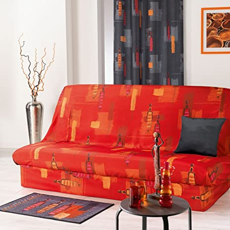Housse De Clic Clac Afrique Décoration Rouge 140 X 190