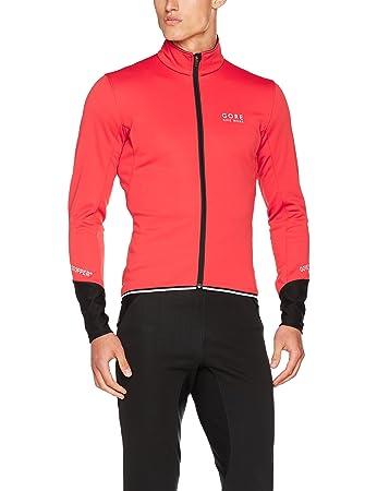 Gore Bike Wear Men s Power 2.0 Windstopper Soft Shell Cycling Jacket - Red  Black b3f416527