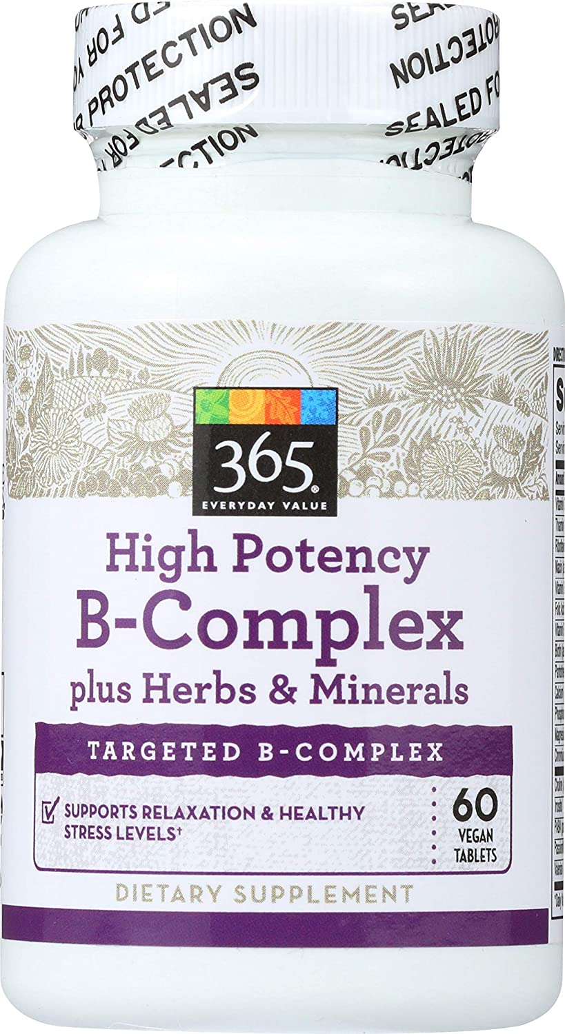 365 Everyday Value, High Potency B-Complex, 60 ct