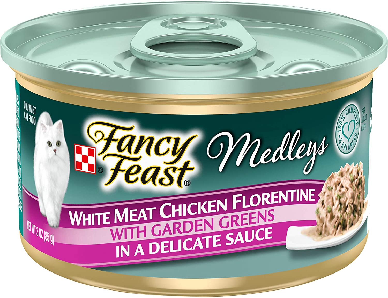 Fancy Feast Elegant Medley Chicken Case Florentine Cat Food (Case of 24)