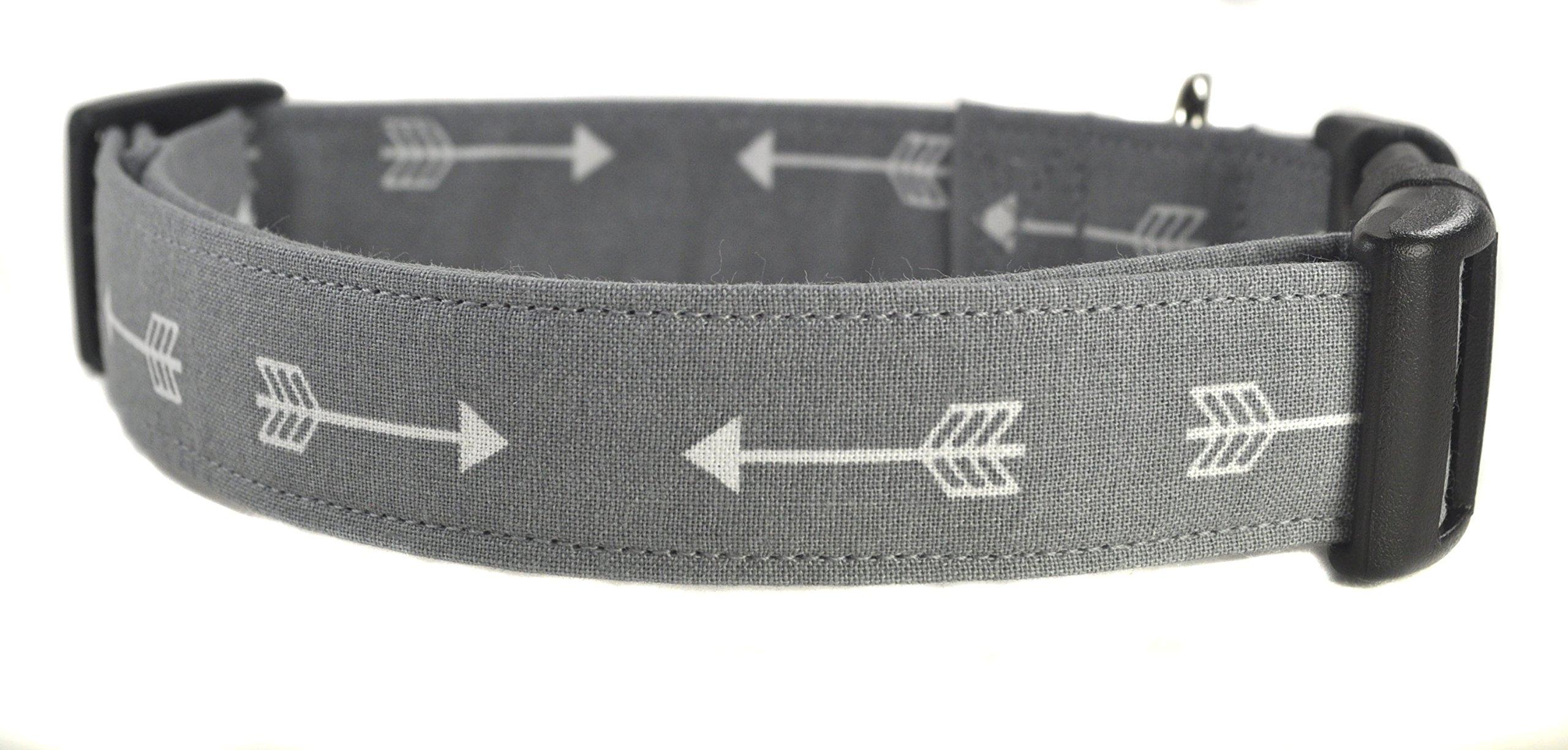 Gray Arrow Dog Collar - The Arrows in Gray