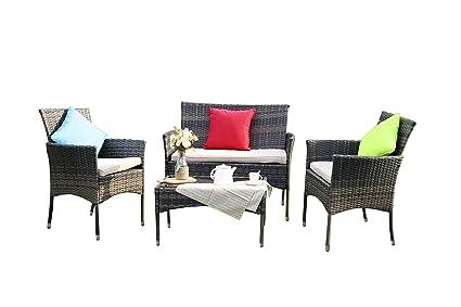 Yakoe eton range outdoor divano mobili da giardino in rattan