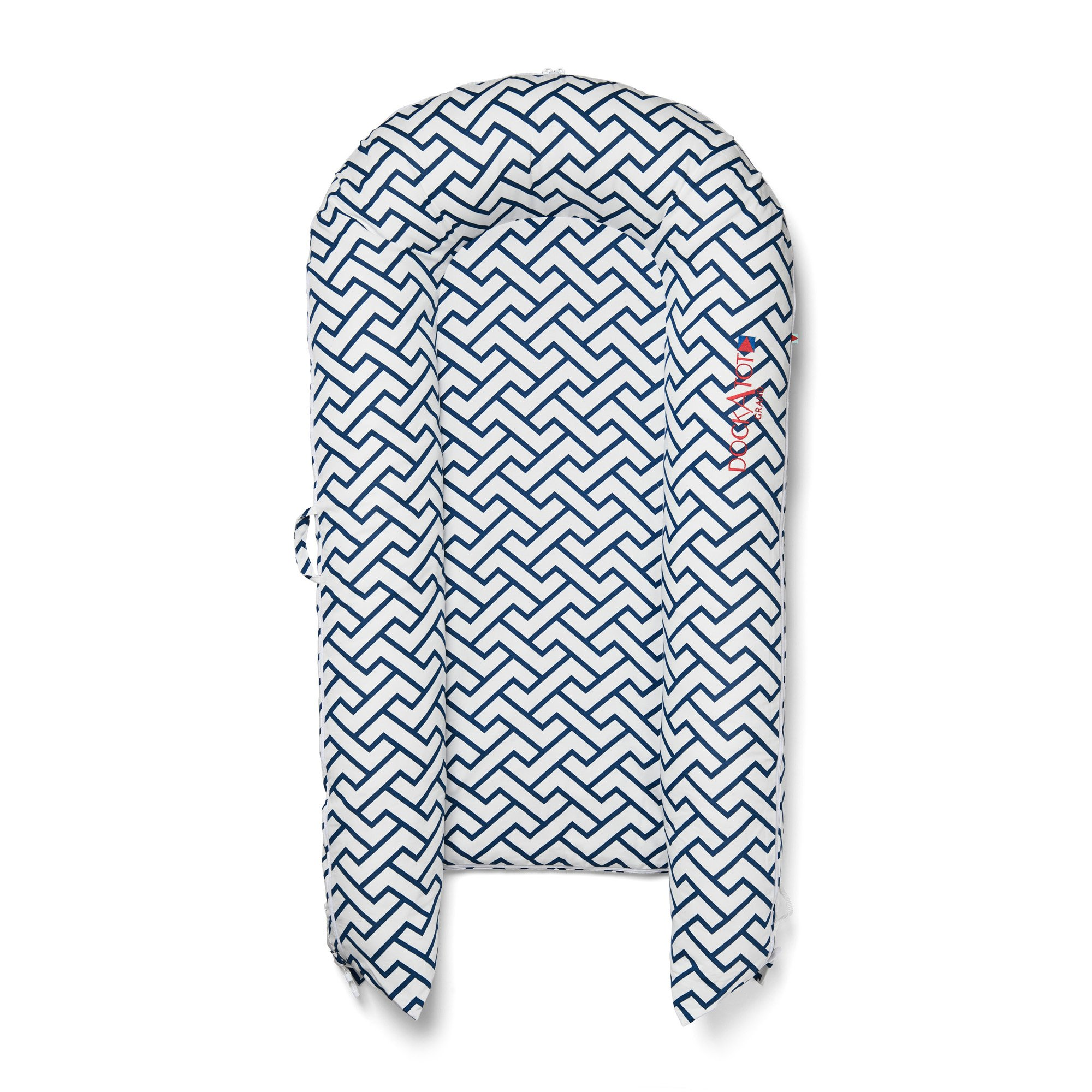 DockATot Grand Dock (Love Links) - Perfect for Cuddling, Lounging, Co Sleeping & Crib to Bed Transition - Breathable & Hypoallergenic - Lightweight for Easy Travel - Suitable from 9-36 months