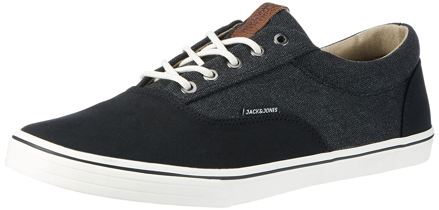 Mens Jfwvision Washed Canvas Suede Mix Navy Low-Top Sneakers Jack & Jones upiWL56v