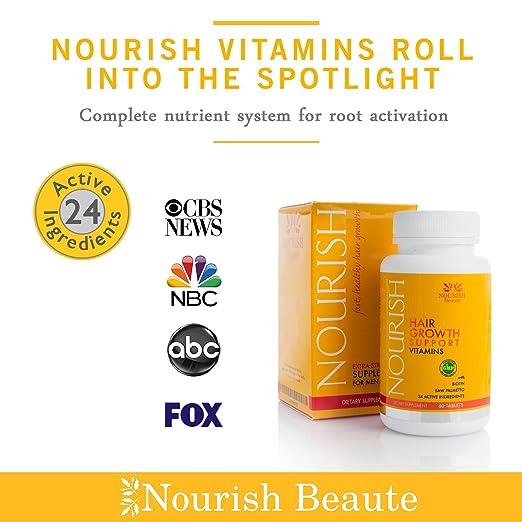 Nourish Beaute Nourish, crecimiento de tu cabello con vitaminas, biotina y bloqueadores de DHT.: Amazon.es: Belleza