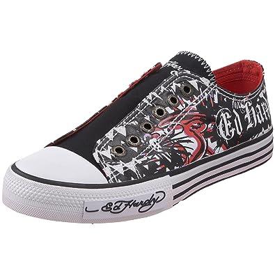 46b410fc4 ED HARDY Women's Santiago Lowrise Sneaker,White-19SLR302W ...