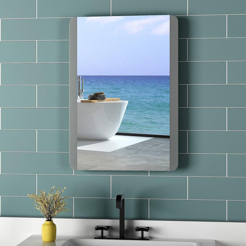 NEU Lichtspiegel Kaltwei/ß 6400K Energieklasse A+ Meykoers Wandspiegel Badezimmerspiegel 50x70cm LED Badspiegel mit Beleuchtung mit Touch-Schalter