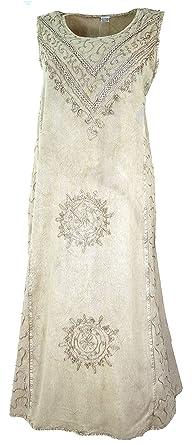 d5a9c56521b84d Guru-Shop Besticktes Boho Sommerkleid