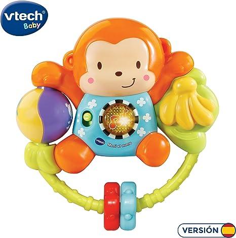 VTech-80-508322 Moni el Mono, sonajero Interactivo bebé con más de ...