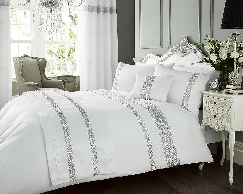 White King Duvet Cover Set - Diamante Bed Linen / Bedding WOW ... : king quilt cover - Adamdwight.com