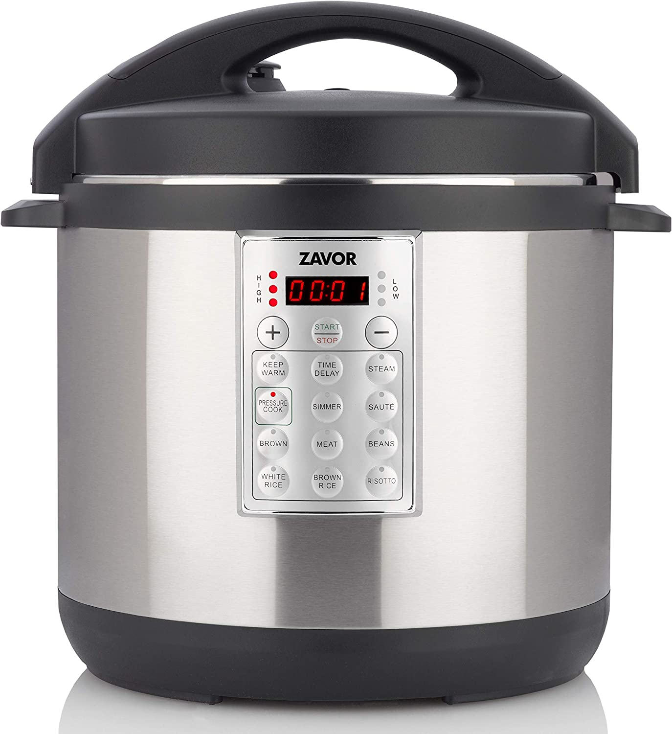 Zavor Select 8 Quart Electric Pressure Cooker and Rice Cooker with Non-stick Inner Cooking Pot and Brushed Stainless Steel Finish (ZSESE02)