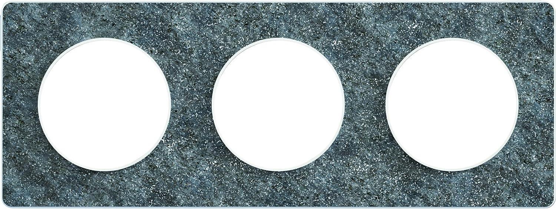 Schneider Electric SC5S53C802J Plaque 1 poste Odace Touch Aluminium bross/é Liser/é alu
