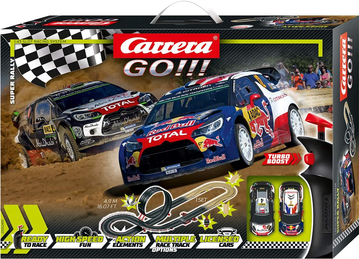 Carrera- Super Rally Juego con Coches, Multicolor, Talla Única (Stadlbauer 20062495)
