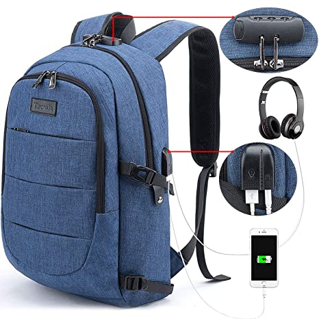 Tzowla Business Laptop Backpack Anti-Theft College Backpack with USB  Charging Port and Lock 15.6 2cba58b14ae46