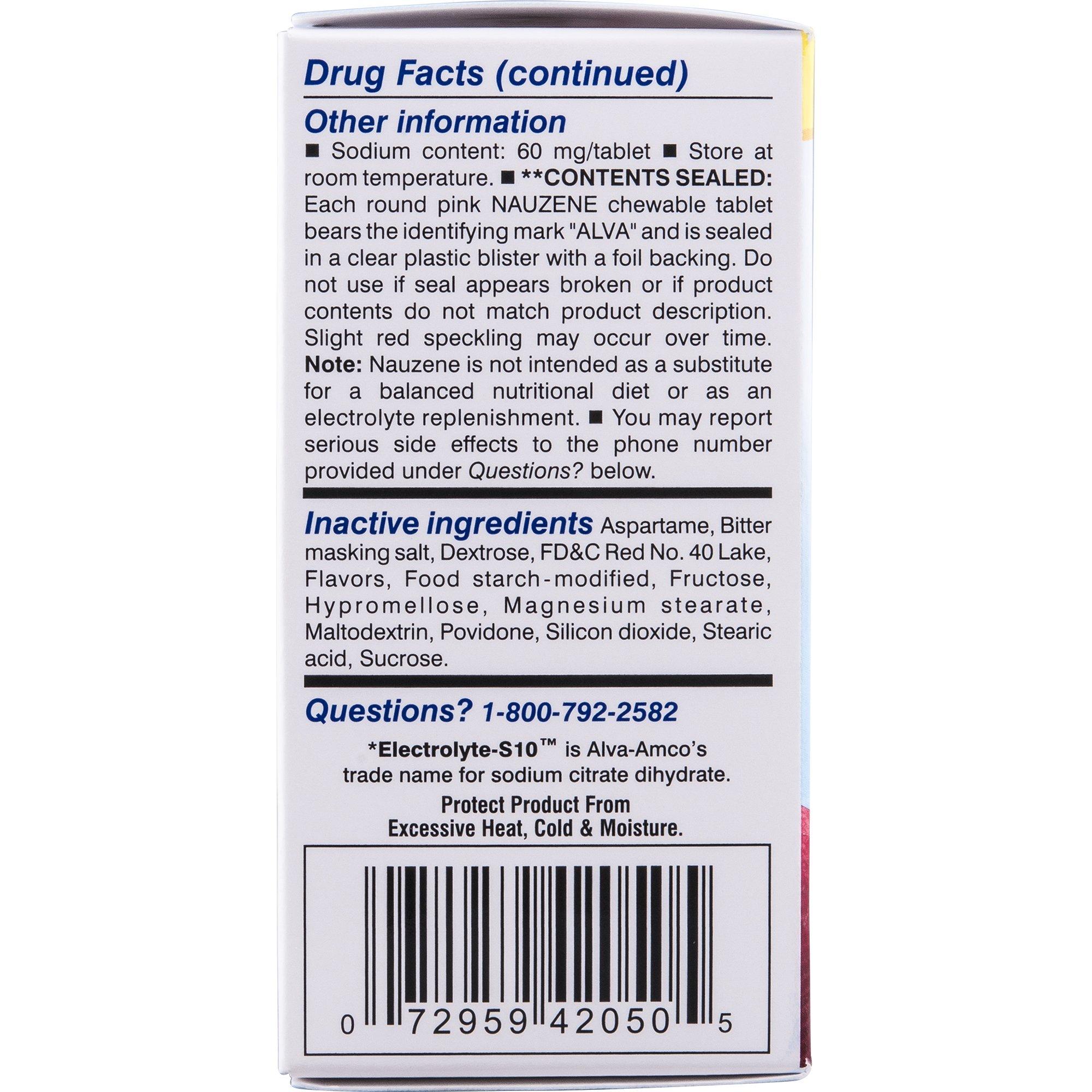 Nauzene For Nausea Chewable Tablets, Wild Cherry, 50 Count by Nauzene (Image #5)