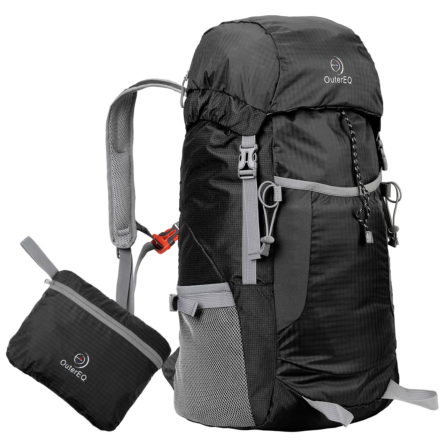 OuterEQ 38L Packable Travel Backpack Daypack For Camping & Hiking cheap