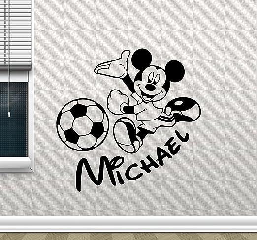 Personalizado Disney Mickey Mouse Estrellas Pegatinas de pared calcomanías de vinilo de arte Hazlo tú mismo