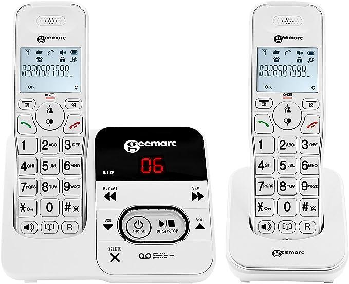 Geemarc Amplidect Inalámbrico 295 Duo con Un Disco De Audiencia Telefónica con Contestador Automático Integrado: Amazon.es: Deportes y aire libre