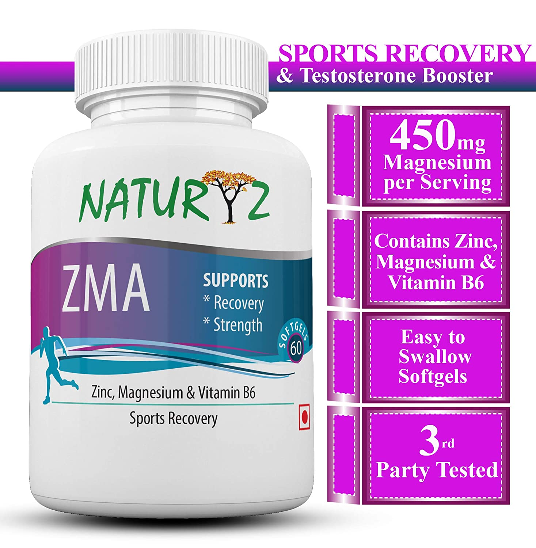 Naturyz ZMA (Zinc, Magnesium Aspartate, Vitamin B6)