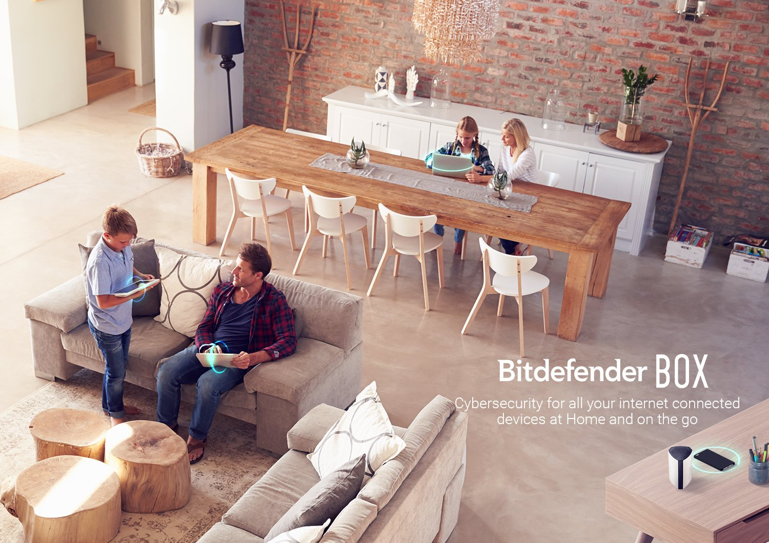 Bitdefender BOX 2 (Latest Version) - Complete Home Network Protection for Your WiFi, Computers, Mobile/Smart Devices and More, Including Alexa and Google Assistant Integration - Plugs Into Your Router 6 Plugs into your (Non-Mesh/Non Google WiFi) router and protects an unlimited number of Wi-Fi and internet connected devices Includes free unlimited BOX support and product setup (a $39.99 value). Before buying, please make sure that your Router can be configured to AP (access point) mode or Bridge mode otherwise BOX 2 will not work BOX automatically detects and optimizes for all your devices during the first 48 hour post-install window. Once complete, experience a protected network with speeds up to 1 Gbps thanks to the 1.2 GHz Dual Core processor and dual 1 Gbps ethernet ports