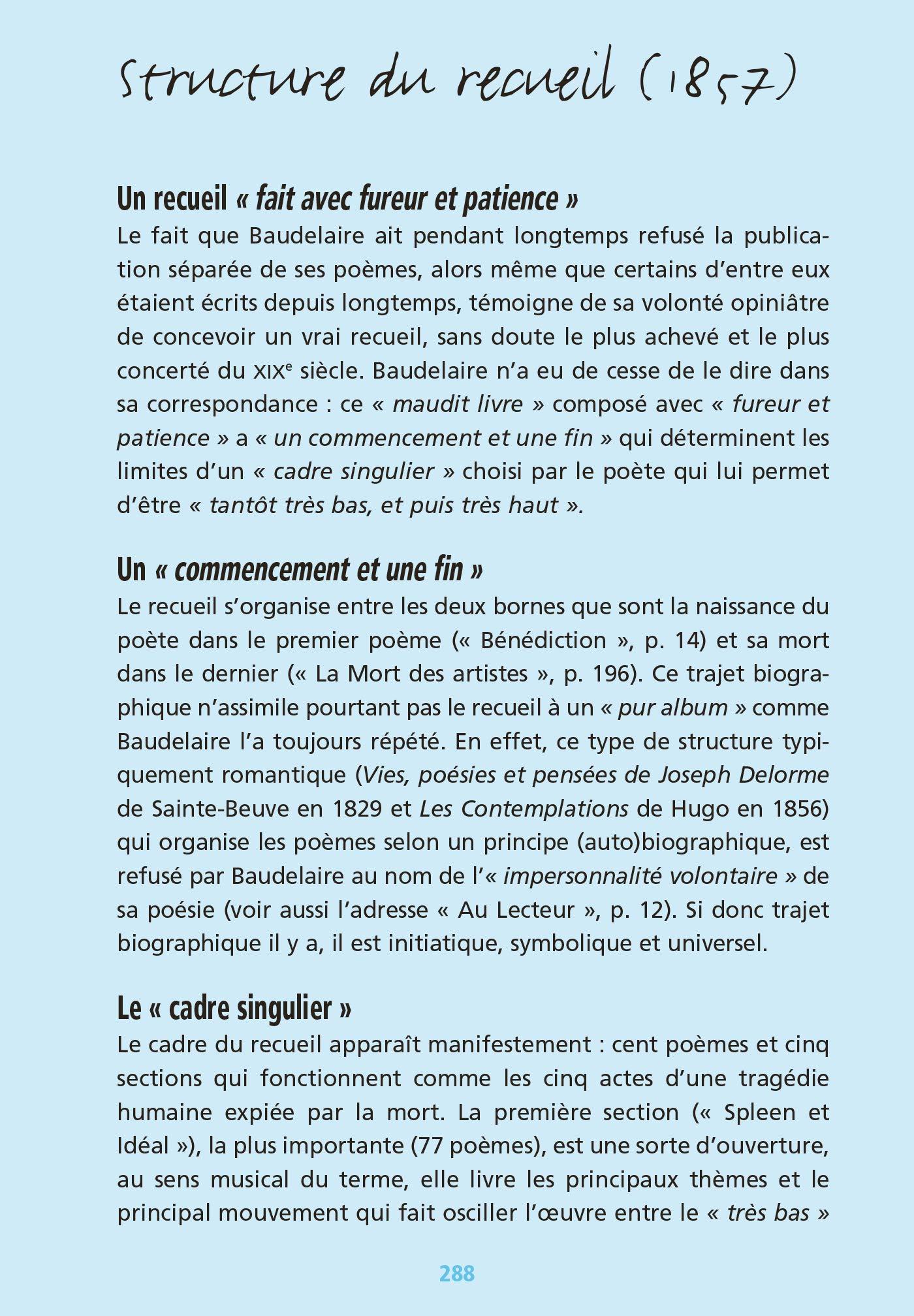 Bibliolycée Les Fleurs Du Mal Baudelaire Bac 2020 Parcours