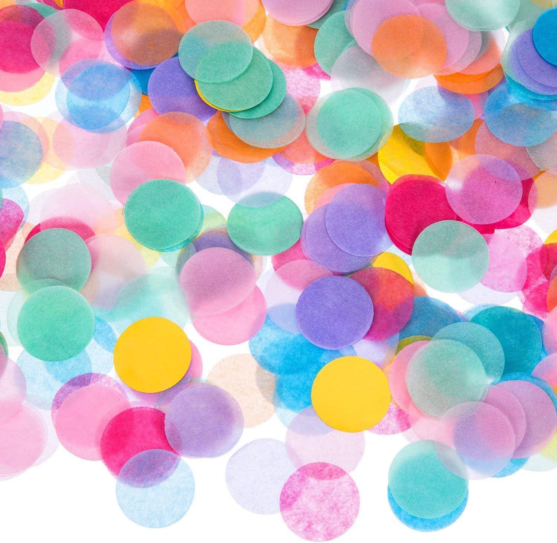 10000 pcs Papel picado, 2.5 cm Papel de seda confeti de mesa, para bodas, cumpleaños, baby shower, graduación, decoraciones de fiesta de ceremonia 200g