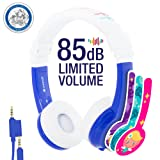 Amazon Price History for:Explore Foldable Volume Limiting Kids Headphones - Durable, Comfortable & Customizable - Built in Headphone Splitter and In Line Mic - For iPad, Kindle, Computers and Tablets - Blue