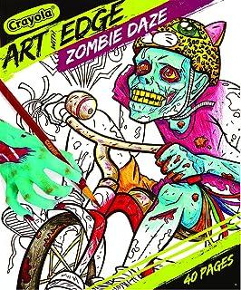 crayola art with edge zombie daze coloring book