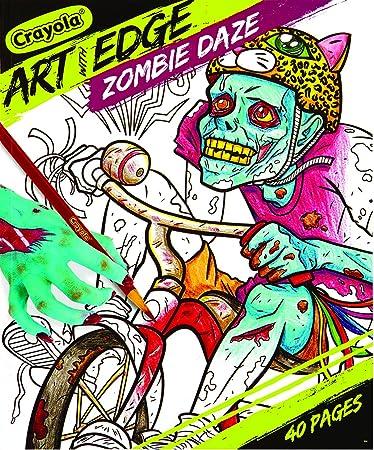 Amazon.com: Crayola Art with Edge, Zombie Daze Coloring Book: Office ...